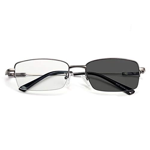 Asudaro Bifokal Lesebrille Sonnenbrille Sehhilfe Anti Blue Lesebrille, Selbsttönende Lesebrille mit UV-Schutz,Asphärisch Verfärbung Computer Brille von 1,0 1,5 2,0 2,5 3,0 3,5