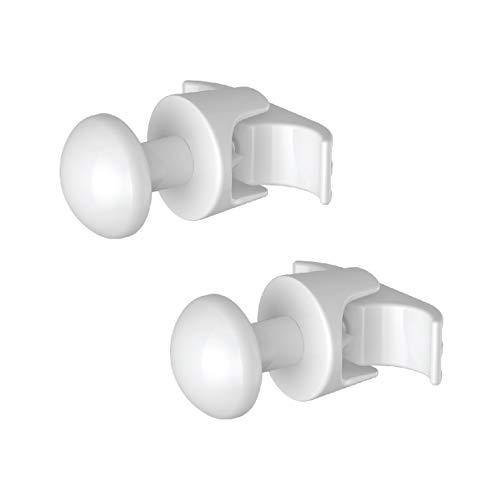 2 Handy Grip buisvormige - handdoekrekken voor meerkleurige buisvormige radiator, deze worden rechtstreeks op de buisvormige radiator bevestigd - wit
