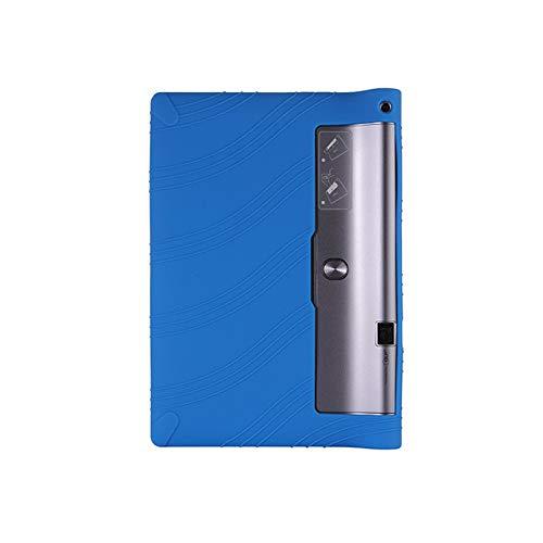 RZL Pad y Tab Fundas para Lenovo Yoga Tab 3 Pro 10.1, Funda de Stand de Silicona para niños para Lenovo Yoga Tab 3 Pro 10.1 x90l x90f x90m (Color : Azul Oscuro)