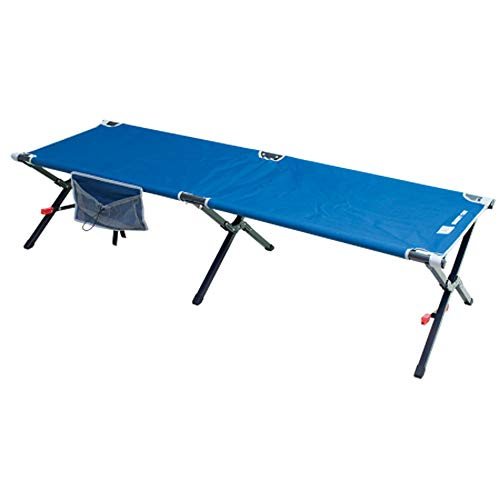 Rio Brands Rio Gear Smart Cot Extra Long Outdoor No End Bar Portable Camping Cot Cool Blue, Large