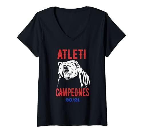 Mujer Atleti Campeones 20 21 Camiseta Cuello V