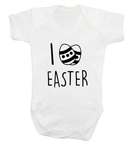 Flox Gilet créatif pour bébé I Love Easter - Blanc - XXL