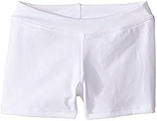 カペジオ Capezio Kids キッズ 女の子 ショーツ ハーフパンツ White Team Basic Boycut Low Rise Shorts [並行輸入品]