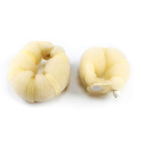 Beaupretty 2 Pcs Cheveux Donut Bun Maker Bun Maker Ring Style Bun Maker Hair Styling Making Tools Beige
