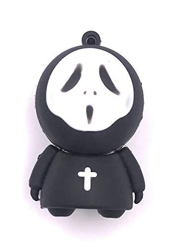 H-Customs Scream Maschera per Halloween a forma di croce, chiavetta USB da 8 GB, 16 GB, 32 GB, 64 GB 2.0/3.0 128 GB USB 3,0