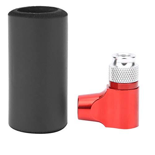 Deror Inflador de CO2 Neumático de Bicicleta Mini portátil Manual Bomba de neumático de Bicicleta Ratón con Funda de Esponja para Bolas/Bicicleta de Carretera Bomba de neumático(Rojo)