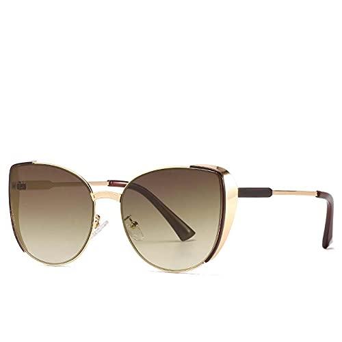 AMFG Personalidad Gafas de sol Metal Marco Señoras Gafas de sol Conducción Gafas de conducción Pesca al aire libre (Color : C)