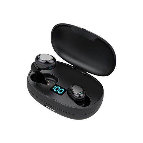 Mini Auriculares Bluetooth Auriculares Inalámbricos 5.0 con HD HiFi Estéreo, Super Ligero Sport Auriculares con Mic/Cancelación de Ruido/Bajo Profundo Inmersivo