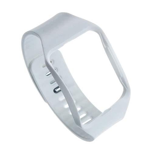 NICERIO Correa Deportiva Compatible con Reloj Samsung Gear s r750 Correa de Repuesto de Silicona Suave Pulsera Impermeable diseño de Moda Hombres Mujeres Compatible con Samsung (Blanco)