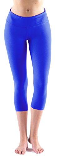 LMB Yoga Pants - Capri Leggings ,Royal Blue,Small