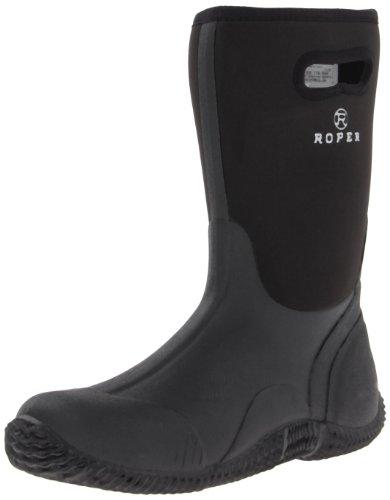Roper Men's Barnyard Boot, Black, 12 D (M)