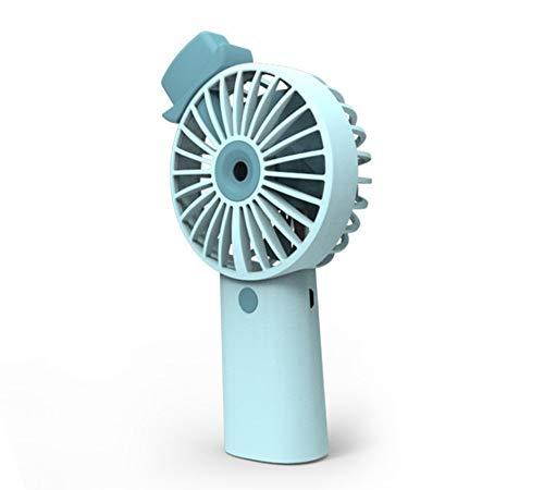 Nuobaby Watermeter ventilator met sproeifunctie, waterstraal, luchtbevochtiger, waterteller, USB, oplaadbaar, miniventilator Blauw