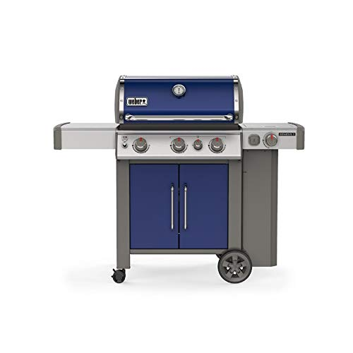 Weber 61086001 LP Genesis II E-335 Liquid Propane Gas Grill, Deep Ocean Blue Bestsellers Financing Gas Grill Grilling Grills Propane with