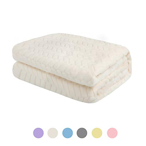 Rest-Eazzzy Baby Blanket Soft Cozy Baby Nursing Blanket Solid Color Fuzzy Blanket Toddler Infant Receiving Blanket Unisex Throw Blanket for Crib, Stroller, Travel, Outdoor