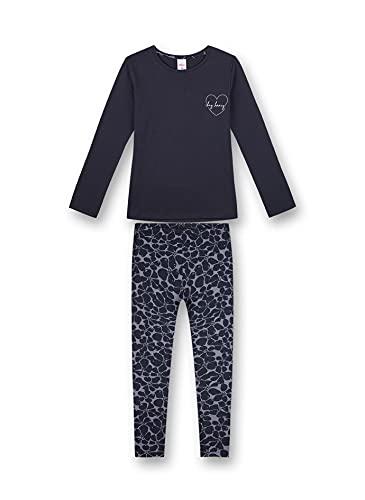 s.Oliver Mädchen Schlafanzug lang blau Pyjamaset, Midnight, 164 (2er Pack)