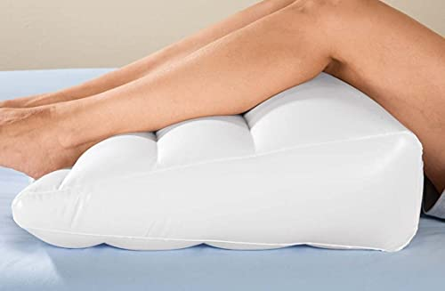 NEW Inflatable Bed Wedge Air Head Leg Foot Elevation Pillow Edge Portable Travel Sleeping Rest by beautyko