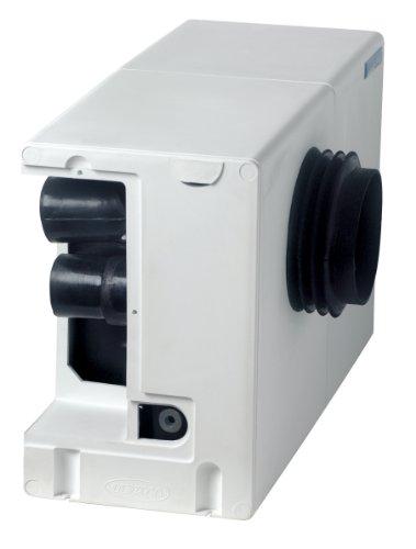 Hebeanlage für Toiletten SANISPLIT 2 WC Zerkleinerer bestehend aus einem am Toilettenausgang anzuschliessendem Sammelbehälter und der abnehmbaren Antriebsmechanik Anschluss von Toilette, Waschbecken, Geschirrspül-, Waschmaschine, Spüle