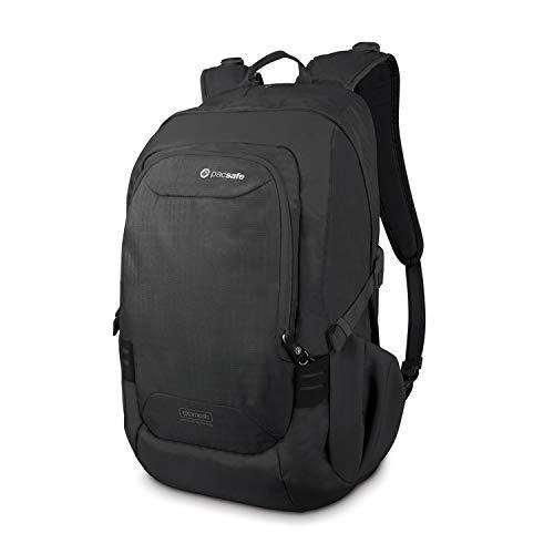 Pacsafe Venturesafe GII Anti Theft Travel Backpack/Daypack-Navy Blue, 25 Liter, Black