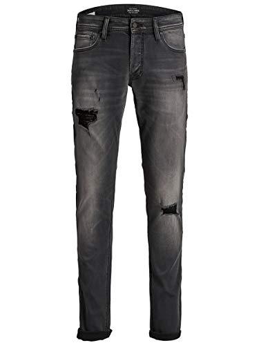 JACK & JONES Jjiglenn Jjoriginal GE 122 50SPS Jeans, Denim Nero, 27W x 30L Uomo