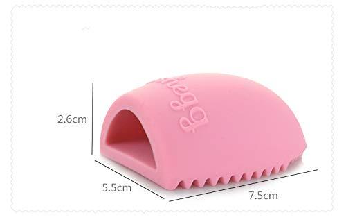 Makeup brush cleaner 1 PC pinceaux de Maquillage Nettoyage de Maquillage Brosse de Lavage de silice Gant Clean Scrubber Conseil cosmétique Pinceau Fond de Teint Nettoyeur à (Color : Pink)