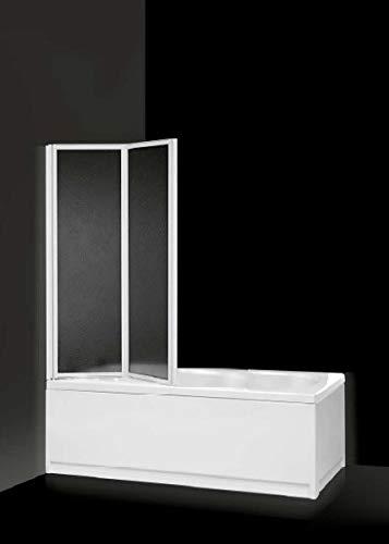Box sopravasca, dos puertas PLEGABLES Acrílico y Aluminio Blanco 90cm carola