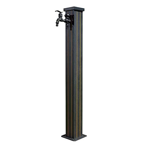 Columna de agua vertical para jardín de grifo anticongelante para exteriores, grifo de latón de columna de agua de acero inoxidable de doble espesor, regar plantas, flores y lavado de automóviles