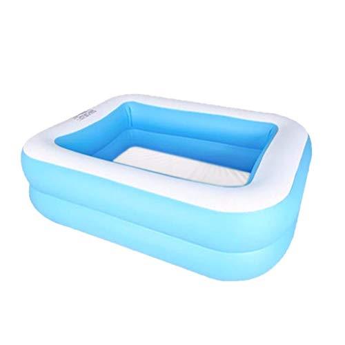 Yowablo Kinder Familie Inflation Pool Baby Ozean Ball Sand Pool Bad Spielzeug Platz (110 x88x 33cm,Blau)