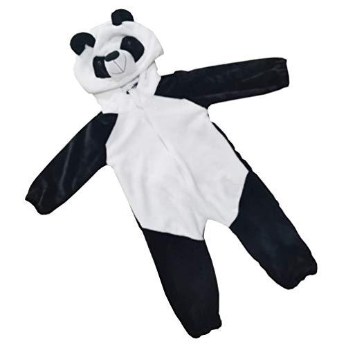 SOIMISS Panda Tierkostüm Baby Einteiliger Anzug Flanell Strampler Outfits Baby Overall Babysitter Strampler Kleidung für Halloween Baby Kinder Geschenke (Schwarz Weiß Größe 90)