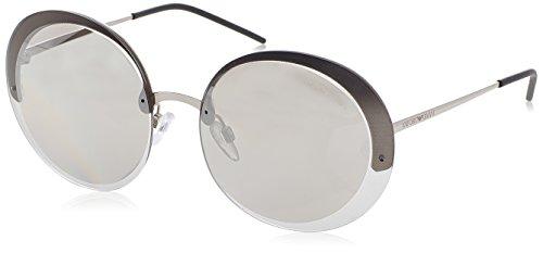 Emporio Armani EArmani 2044 Gafas de sol, Silver 30156G, 61 Unisex-Adulto