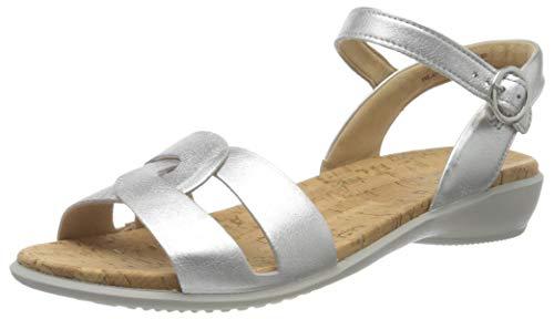 Hotter Damen Island Sandale, Silberfarben, 42 EU