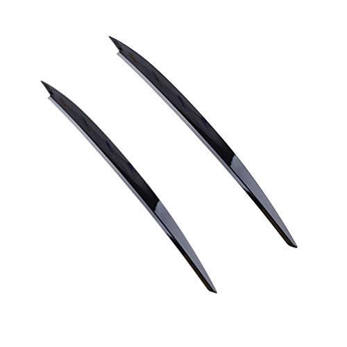 HYSM para V&W para Golf 7 VII para GTI para GTD para GTE R MK7 Black Faritubre Eyelids Eyelids Cubierta DE Decoración De La Ceja Cubierta Faros Cejas