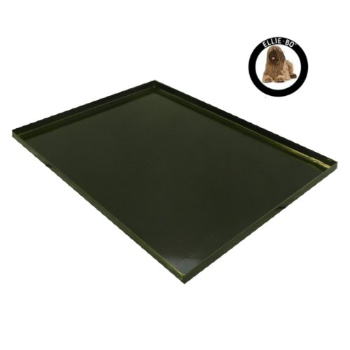 Ellie-Bo Replacement Black Metal Tray for 36 inch Large Dog Cage Crate