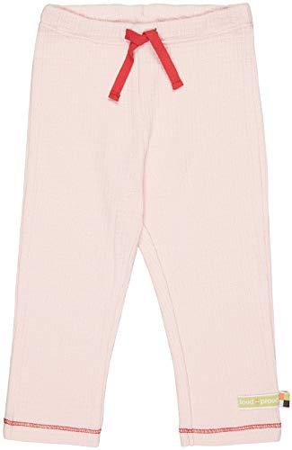 loud + proud Hose Waffel, GOTS Zertifiziert Pantaloni, rosé, 74/80 cm Unisex-Bimbi