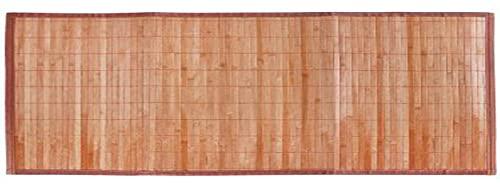 LEYENDAS Alfombra Antideslizante de Bambu,Alfombrilla de baño,Pasillo o Salon Repelente al Agua para la Ducha, marrón Claro (60_x_400_cm)