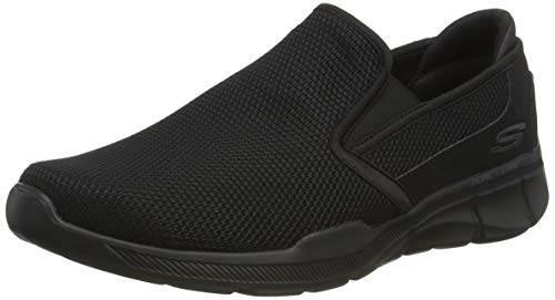 Skechers Men's Equalizer 3.0- Sumnin Slip On Sneakers, Black (Black Bbk), 9.5 UK (44 EU)