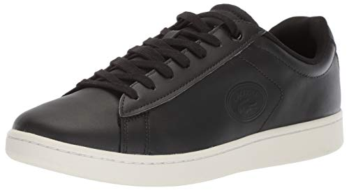 Lacoste Men's Carnaby Evo BL Leather Sneakers, Black (11.5)