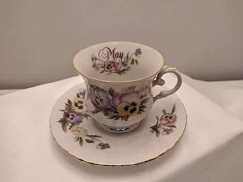 Taza de té CC200 con platillo de 14 cm de mayo 'Sweet Pea'. Royal China – Seltmann Weiden Bavaria colección Vintage