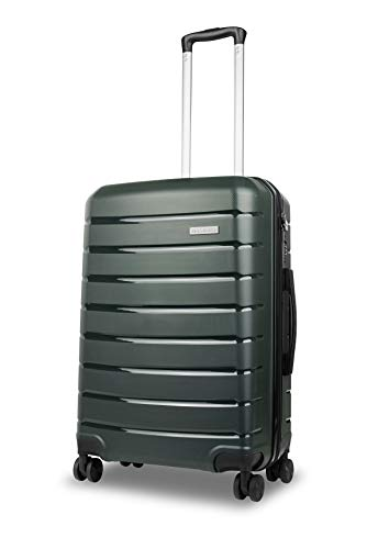 Roma Durable Hard Shell Luggage (Green) 24 Inch Medium Spinner Suitcase, 61 cm, 4 Wheels, M Suitcase with a 5 Year Warranty