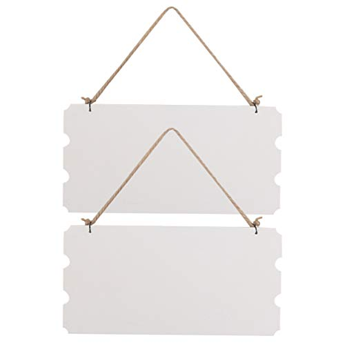 TOYANDONA 2 Stks Houten Plank Plaque Voordeur Teken Rustieke Opknoping Borden Menu Prikbord Vintage Wanddecoratie Voor Thuis Winkel Winkel