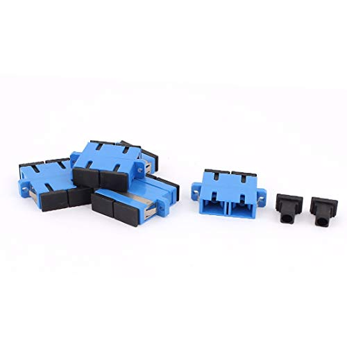 New Lon0167 5 pcs Destacados SM SC-SC UPC eficacia confiable acopladores de fibra dúplex adaptadores de brida Conectores de fibra óptica azul(id:2fd 5d 67 984)