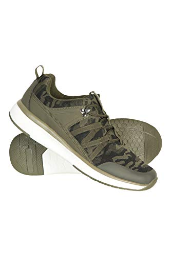 Mountain Warehouse Camo Mens Knit Trainers - Breathable Sports Shoes Camouflage 10 M US Men