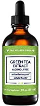 The Vitamin Shoppe Organic Green Tea Extract 1,000MG, Alcohol Free, Antioxidant Supplement That Supports Cellular Cardiovascular Health, Mix's Well with Water (2 Fluid Ounces Liquid)