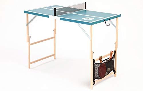 DISH TENNIS Mini Tischtennisplatte inkl Netz | Niagara Grün