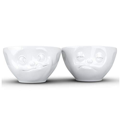 FiftyEight Lot de 2 Petits Bols en Porcelaine Blanche, 11,7 cm