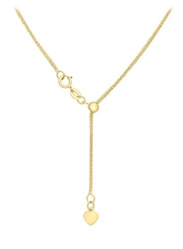 Carissima Gold Collar unisex con oro amarillo de 18 quilates (750/1000), sin gema, 51 cm