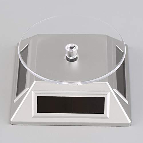 Tree-es-Life Soporte de exhibición de Reloj de Pulsera de Anillo de teléfono móvil de joyería giratoria 360 con energía Solar Respetuoso del Medio Ambiente Gris