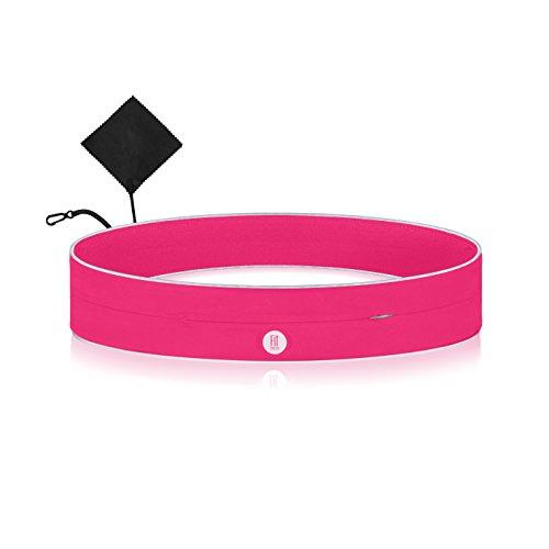 Cinturón Running Deportivo para Correr con Teléfono Móvil - Bolsillo Cremallera - Riñonera Elastica Mujer Hombre