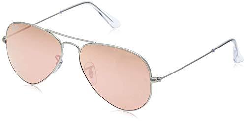 Ray-Ban Aviator Large Metal, Gafas de sol para Hombre, Plateado (Copper Flash), 55