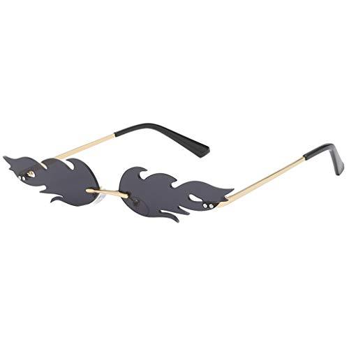 LUCKYCAT Mann Frauen Unregelmäßige Form Sonnenbrille Brille Vintage Retro Smart Change Semirandless Outdoor-reiten Sport Fahren Polarisierte Schutz Radfahren Skifischen Golf