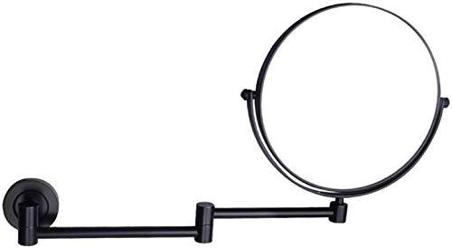 L&B-MR Espejo de maquillaje espejo de tocador giratorio 360 espejo cosmético doble cara extensible redondo afeitado en dormitorio o baño